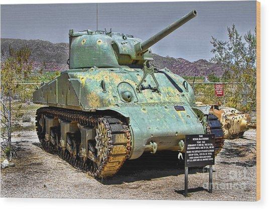 Patton M4 Sherman Wood Print