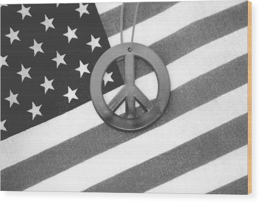 Peace And Patriotism Wood Print