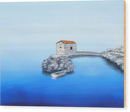 Peaceful Adriatic  Wood Print by Larry Cirigliano