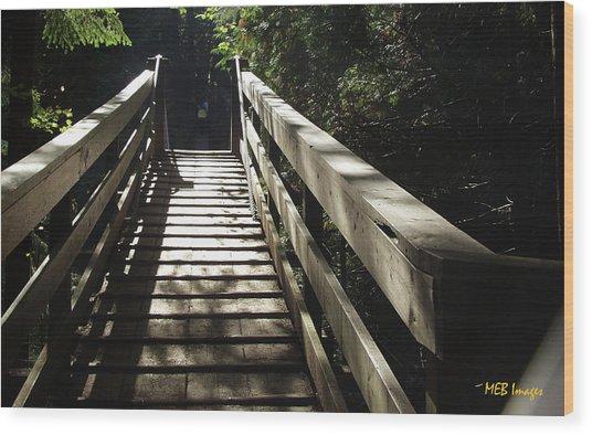 Peaceful Bridge Wood Print