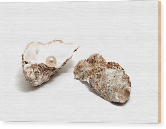 Pearl In Shell Wood Print by Ursula Alter