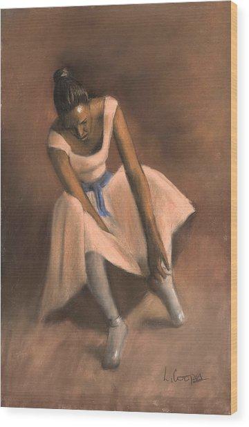Pearl Joy Wood Print by L Cooper