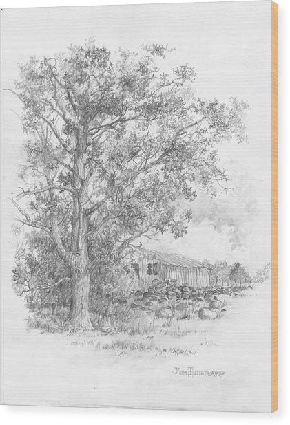 Pecan Wood Print