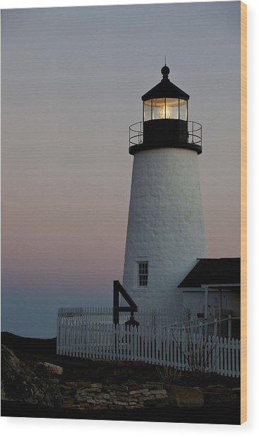 Pemaquid Point Aglow Wood Print