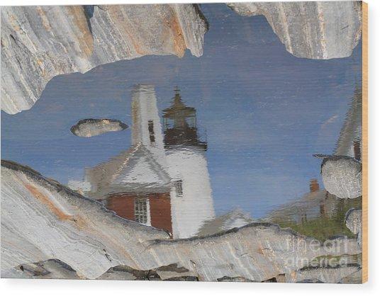 Pemaquid Point Light Wood Print by John Doble