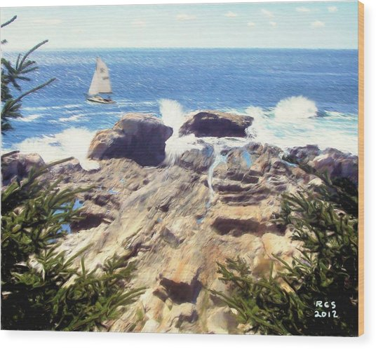 Pemaquid Point Wood Print