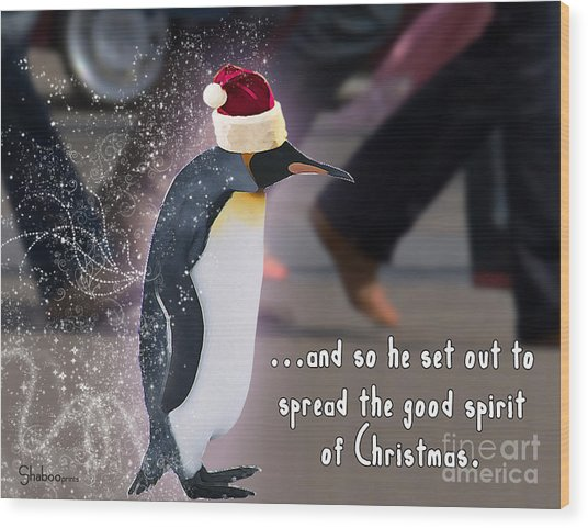 Penguin Holiday Wood Print