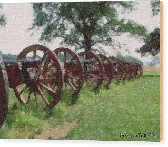 Pennsylvania's Confederate Cannon Wood Print by Antonio Brito