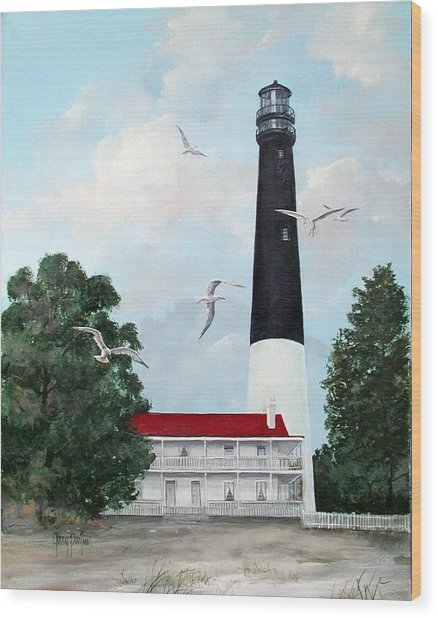 Pensacola Light House Wood Print