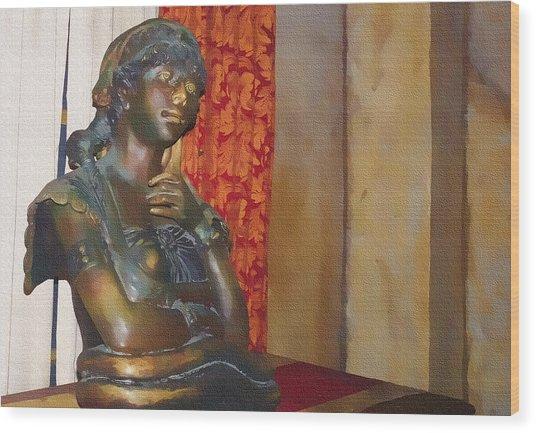 Pensive Statue Wood Print