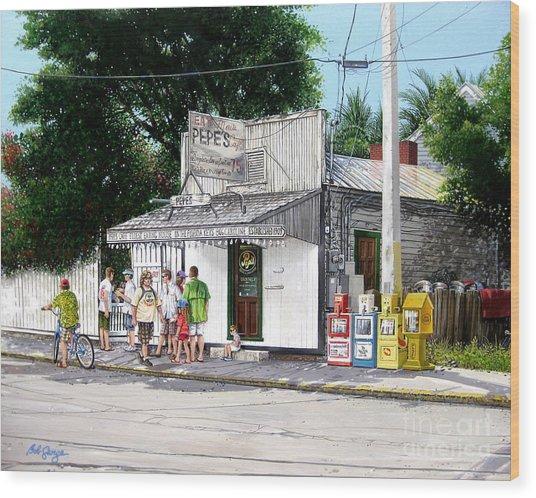 Pepe's Cafe Key West Florida Wood Print