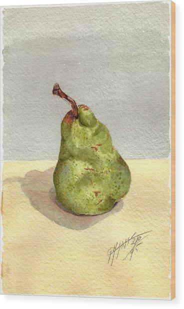 Pera Wood Print by Giovanni Marco Sassu