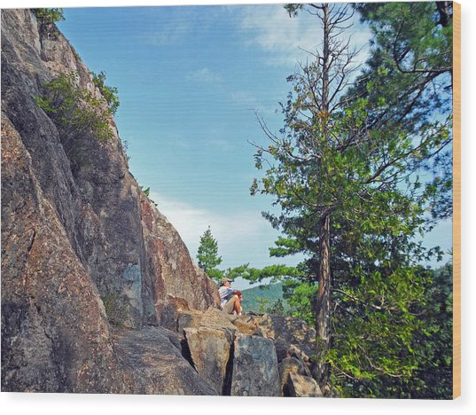 Perched Over Echo Lake Wood Print