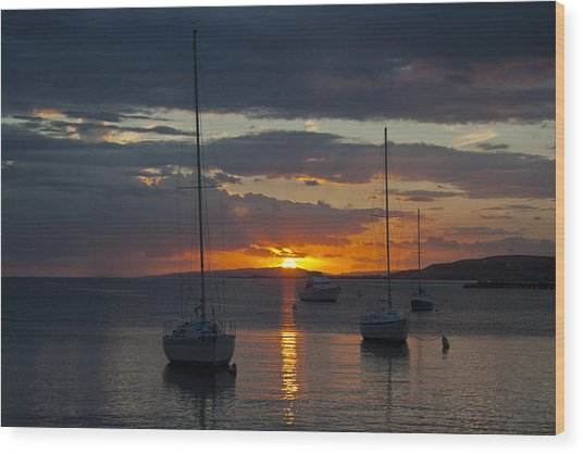 Perfect Ending In Puerto Rico Wood Print