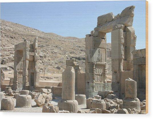 Persepolis Color Wood Print by Tia Anderson-Esguerra