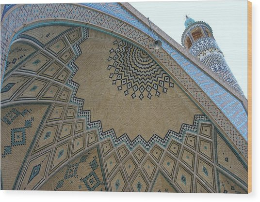 Persian Mosque Wood Print by Tia Anderson-Esguerra