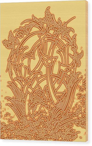 Persian Ornament Wood Print by Mohsen Mousavi