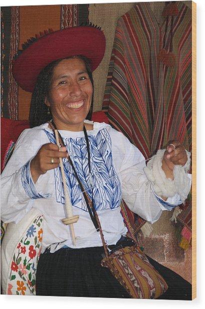 Peruvian Weaver Wood Print