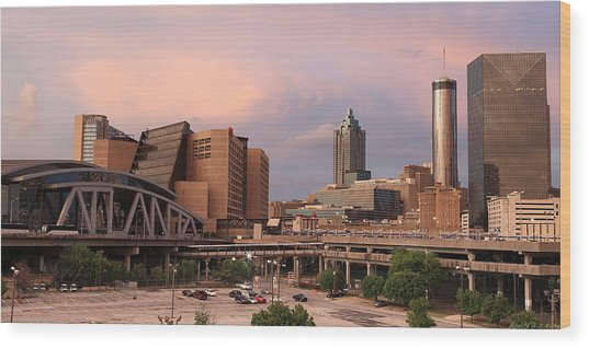 Philips Arena Wide  Wood Print by Alberto Filho