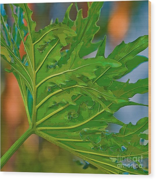 Philodendron Wood Print
