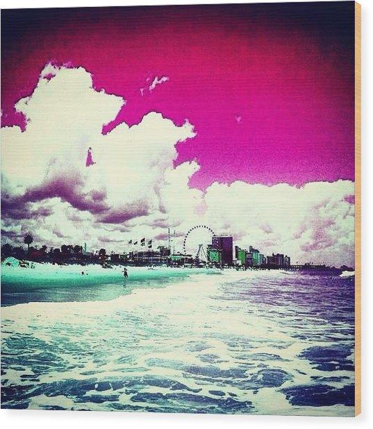 Pic Redo #beach #summer #prettycolors Wood Print