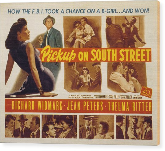 Pickup On South Street, Jean Peters Wood Print by Everett