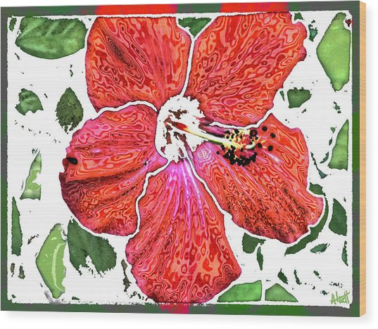Pieces Wood Print by Marilyn Atwell
