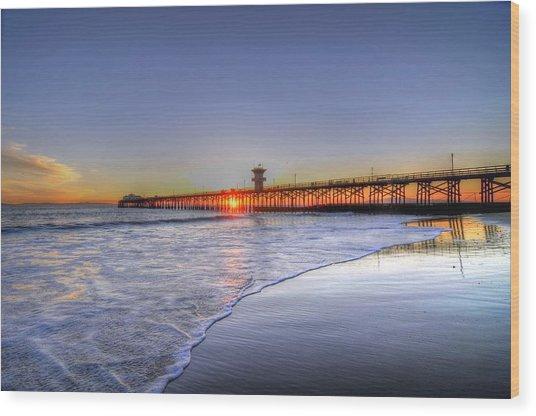 Pier Vista Wood Print