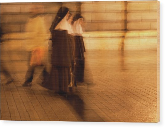 Piety In Motion Wood Print
