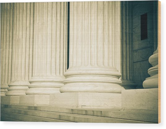 Pillars Of Law And Justice Us Supreme Court Wood Print