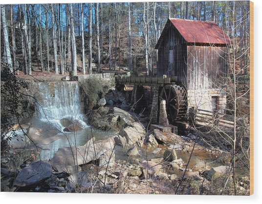 Pine Run Mill Wood Print by Rick Mann