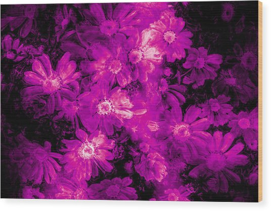 Pink Flower Arrangement Wood Print