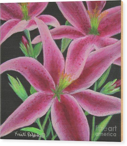 Pink Paradise Wood Print