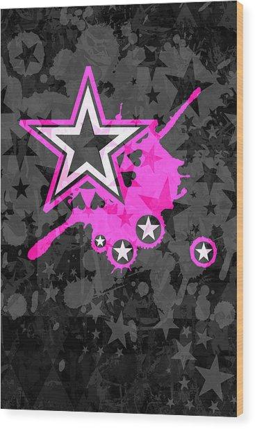 Pink Star 3 Of 6 Wood Print