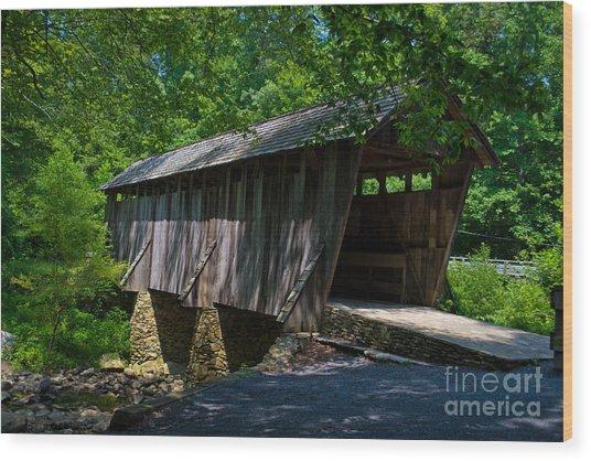 Pisgah Covered Bridge Wood Print