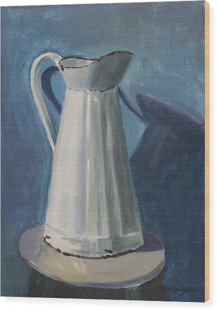 Pitcher Wood Print by Nancy Rodger