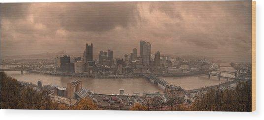 Pittsburgh Skyline 1 Wood Print by Wade Aiken