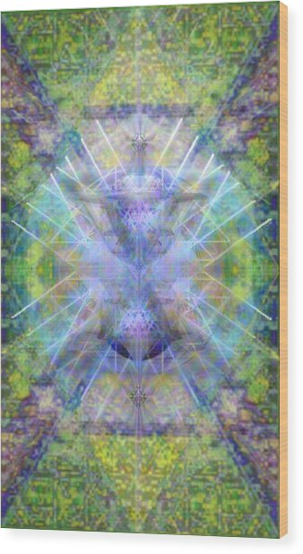 Pivortexspheres In Chalicell Garden Of Light Wood Print