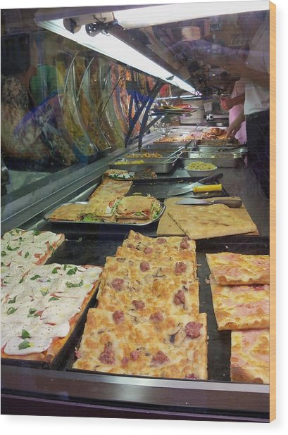 Pizza Pizza Wood Print