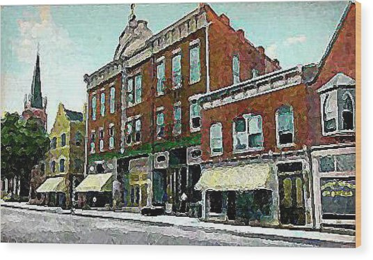 Plainfield Theatre In Plainfield N J 1907 Wood Print by Dwight Goss