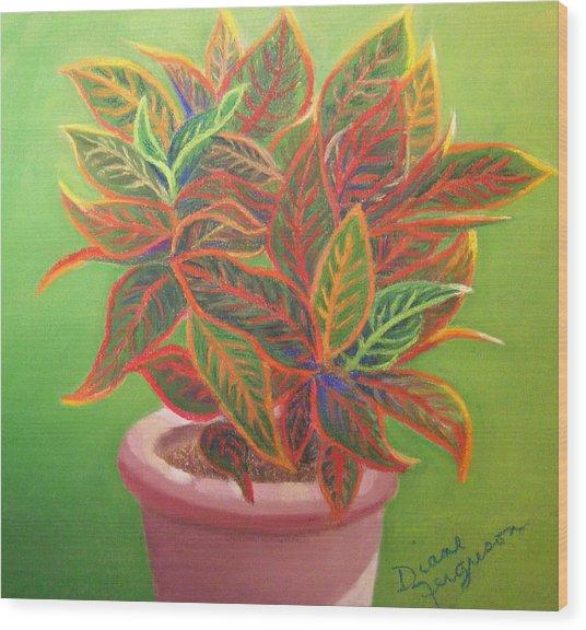 Plant Portrait II Wood Print