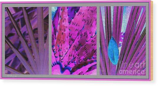 Plants 2 Wood Print
