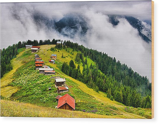 Plateau Wood Print