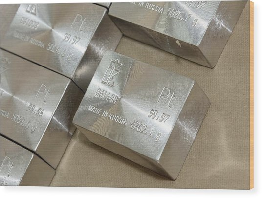 Platinum Bars Wood Print by Ria Novosti