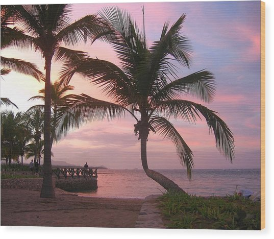 Playa Dorada Sunset 0681 Wood Print