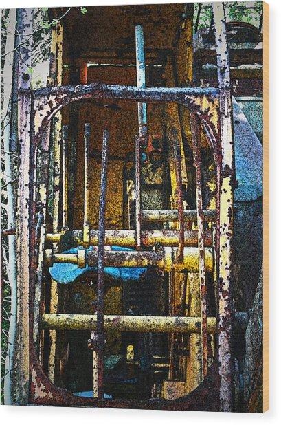 Pleasent Point Crane 8 Wood Print