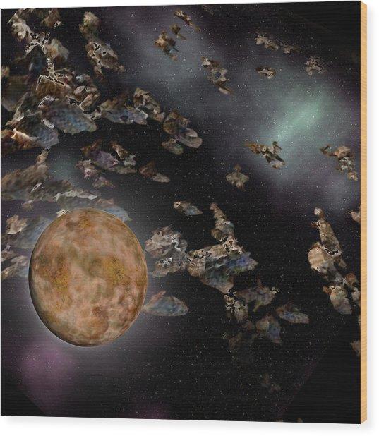 Pluto Wood Print