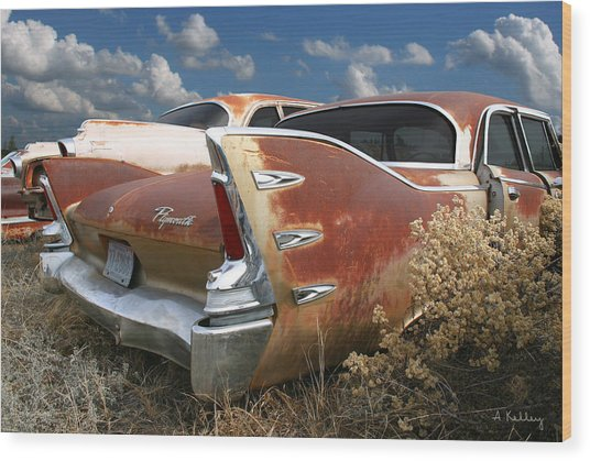 Plymouth Belvedere Wood Print by Andrea Kelley