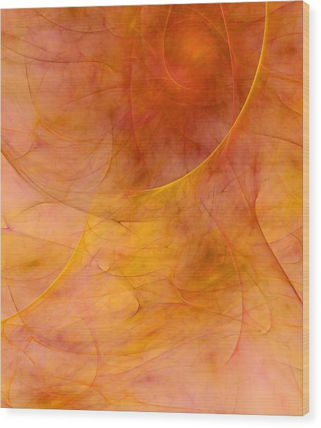 Poetic Emotions Abstract Expressionism Wood Print