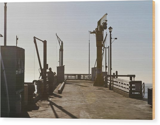 Point Arena Cove Pier Wood Print